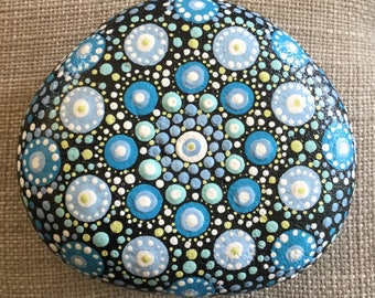 Hand painted Mandala stone, rock, paperweight