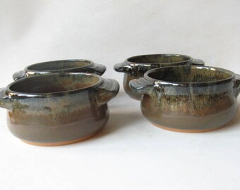 French Onion Soup Bowls Set of 4, Individual Bakers, Small Casseroles