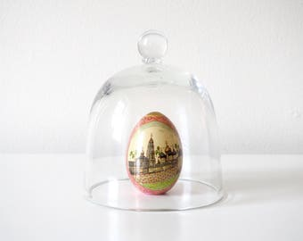 Clear Glass Vintage Bell Jar, Small (a)