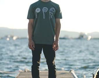 Fiddlehead Screenprinted tshirt mens shirt