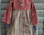 Reserved for Carol** Primitive Handmade Folk Art Rag Doll