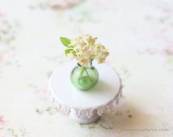 Dollhouse Miniature Flowers- Green and Pink Tips Hydrangeas