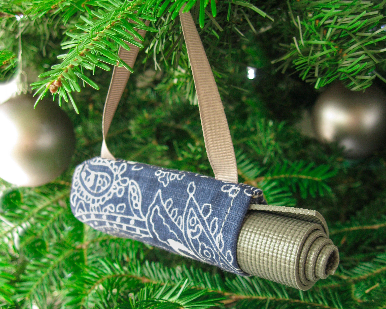Yoga Stocking Stuffer Boho Christmas Tree Ornament Yoga