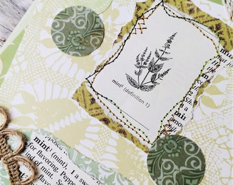 Garden of Mint Greeting Card