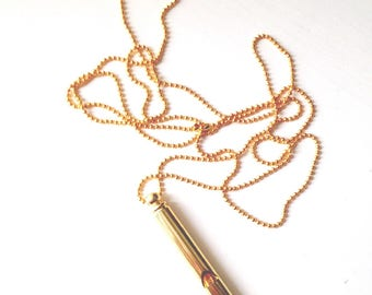 Whistle Necklace in Gold