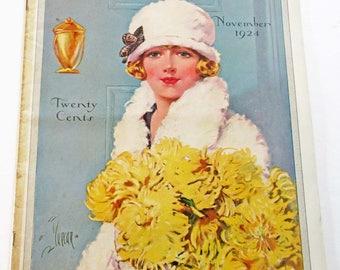 Vintage Magazine Modern Priscilla November 1924 Fashion Sewing and Knitting