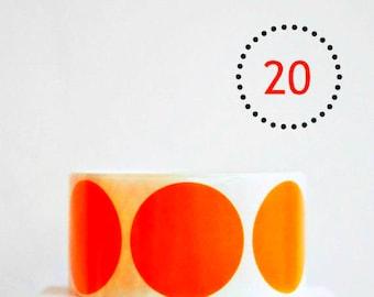 Matte Orange {20} Dot Stickers {45mm} Envelope Seals   Orange Stickers   Housewarming   Sweet 16   Fun Gift Wrapping