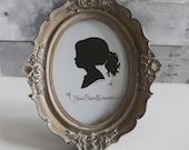Farmhouse Decor Oval Frame Vintage French country cottage, small, Neutral, Shabby Chic, Ornate Antique style, Honey Gold tone, Entryway