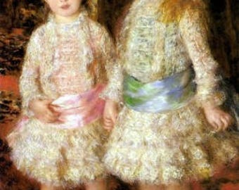 Renoir The Girls Reproduction Fabric Crazy Quilt Block Free Shipping World Wide