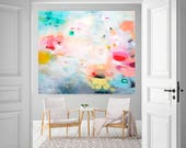 Reserved for Anabel, Colorful abstract art, large original acrylic wall art, original canvas painting, large abstract modern art