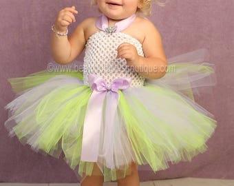 Tinkerbell Baby Girl Costume,Purple and Green Toddler Tutu Dress,Halloween Costume Tutu Dress,Birthday Tutu Dresses,Tinkerbell Girl Dress