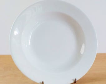 Vintage J & G Meakin Ironstone Serving Bowl • Vintage Plain White Shallow Bowl • Vintage Hanley England Ironstone Serving Platter