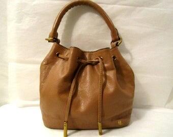 Leather Bag, Leather Bucket Bag, Italian Leather Bag, Pebbled Leather Handbag