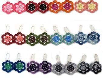 Large Flower Earrings - Choose a Color