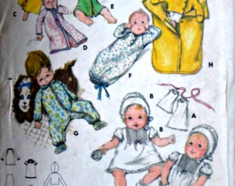 Sewing Pattern, Vintage 70's Butterick 5102 Infant Layette, Dress, Kimono,  Sleep Sac, Jumpsuit, Bunting, One Size, 1970's