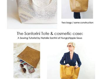 PDF sewing pattern The Santorini Tote and Cosmetic case