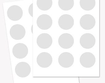 2 inch circle rounds template, collage sheet printable, craft template, blank circle sheet, commercial use PNG and PSD files (LT01)