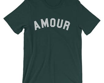 Amour Shirt Green Amour Shirt Green Amour T Shirt Green Amour T-Shirt Green Amour TShirt Green Amour Tee French Shirt French T Shirt