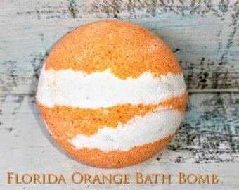 Orange Bath Bomb, bath fizzie, natural bath bomb, relaxing bath bomb, bath bomb gift, florida orange gift, Christmas gift, gift for women