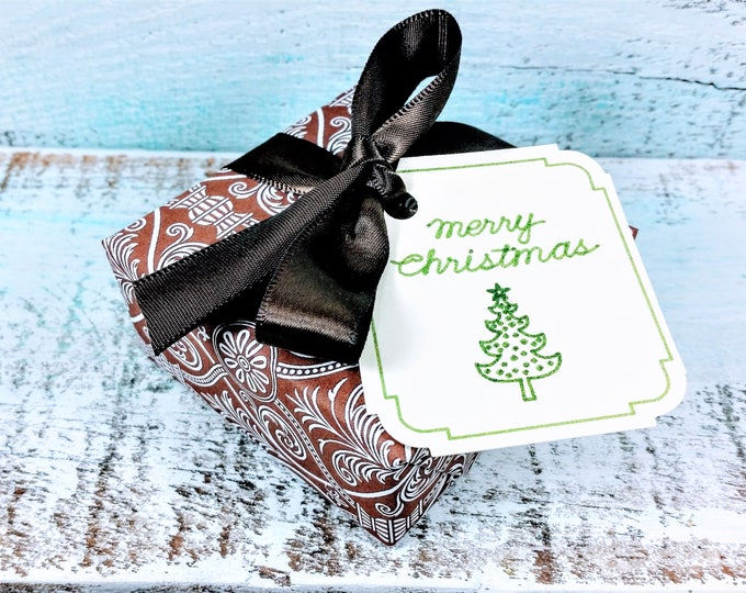 Brown and White Wrapped Soap Christmas Gift, Great Gift for men