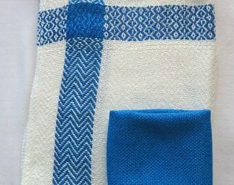 Blue and White Tea-towel