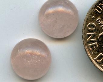 MORGANITE A+ 8mm Cabochon pair (Natural color Pink BERYL)