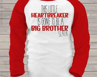 Big Brother heartbreaker raglan shirt- an adorable way to announce your pregnancy snlv-037-r
