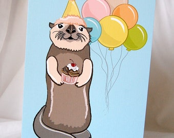 Party Otter Greeting Card