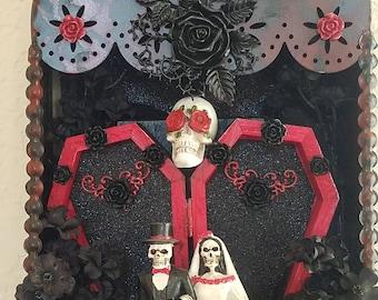 Custom Day of the Dead Retablo Altar Shadowbox