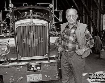 Skagit Valley, THE OLD MAN, Oldest Trucker, Clyde Keller photo, 1980