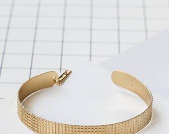 Grid Bracelet, Grid Cuff, Geometric Bracelet, Gold Bracelet, Minimalist Bracelet