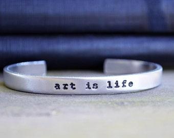Art is Life Bracelet - Artist Bracelet - Gifts for Artists - Art Students - Graduation Gift - Art Lovers
