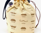 Sock Bag - Small Knitting Crochet Project Bag - No Shave November