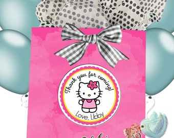 Personalized Hello Kitty Stickers,  Hello Kitty Party