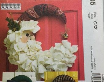 Santa Snowman Witch Door Decoration Mccalls Crafts M5205 Seasonal Decorations Pattern