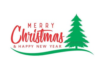 Merry Christmas Decal, Pine Tree, Old Fashioned, Vinyl Decal, Make Your Own Sign, Happy Holidays, Merry Christmas, Vinyl Sticker, Farmhouse