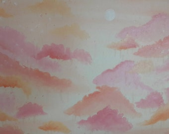 Sherbert Sky 2 Oil Painting - 30x24