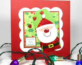 Santa Claus card, Christmas card, Christmas card handmade, Kids Christmas card, Christmas cards for kids, personalized cards