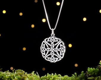 Sterling Silver Celtic Shield Knot - (Pendant, Necklace or Earrings)