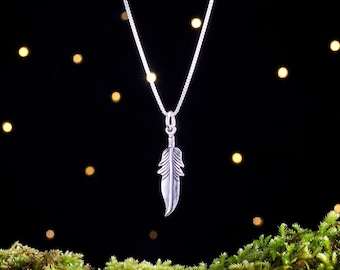 Sterling Silver Feather - Simple Everyday Jewelry - Minimalist Bohemian - (Charm, Necklace, or Earrings)