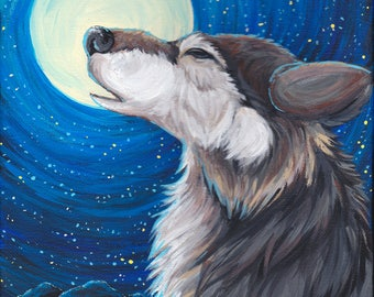 Howling Wolf - 5x7 matted print
