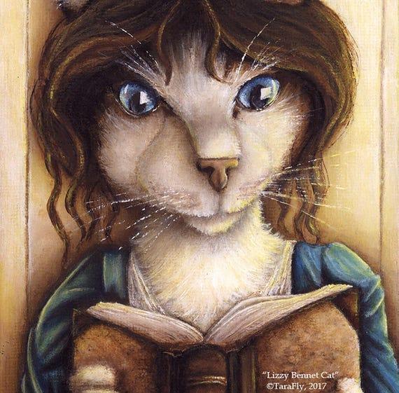 Lizzy Bennet Cat 8x10 Fine Art Print
