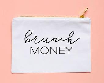 brunch so hard - brunch squad - brunch - makeup bag - cosmetic bag - cute cosmetic pouches - bridal party gift - brunch shirt - brunch tanks