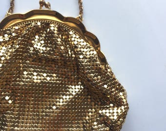 The Vintage Gold  1940s Whiting and Davis Slinky Mesh Purse