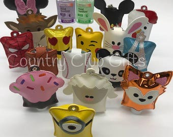 Hand sanitizer holder, sanitizer key chain, sanitizer holder for backpack, key fob holder, School backpack Easter Basket, Kids Backpack