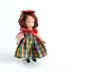 Vintage Nancy Ann Storybook Bisque Doll One-Two Button My Shoe Nursery Rhyme Girls Room Decor Collectible