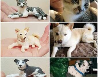 Custom Dog Sculpture Figurine of your pet