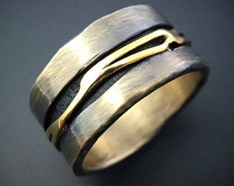 Sterling Silver 18K Gold Ring Handmade Jewelry Wild Prairie Silver Jewelry Joy Kruse