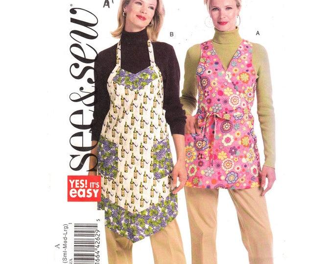Butterick 5274 Retro Apron Sewing Pattern Full Bib Wrap Apron Womens Size 8 to 18