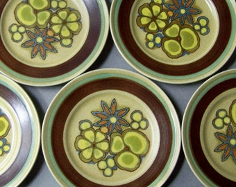 Set of 11 Vintage MIKASA Sand Kraft Tropicana Salad Plates ~ Japan